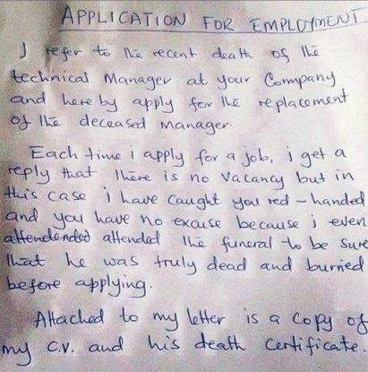 Applicant - Thorough
